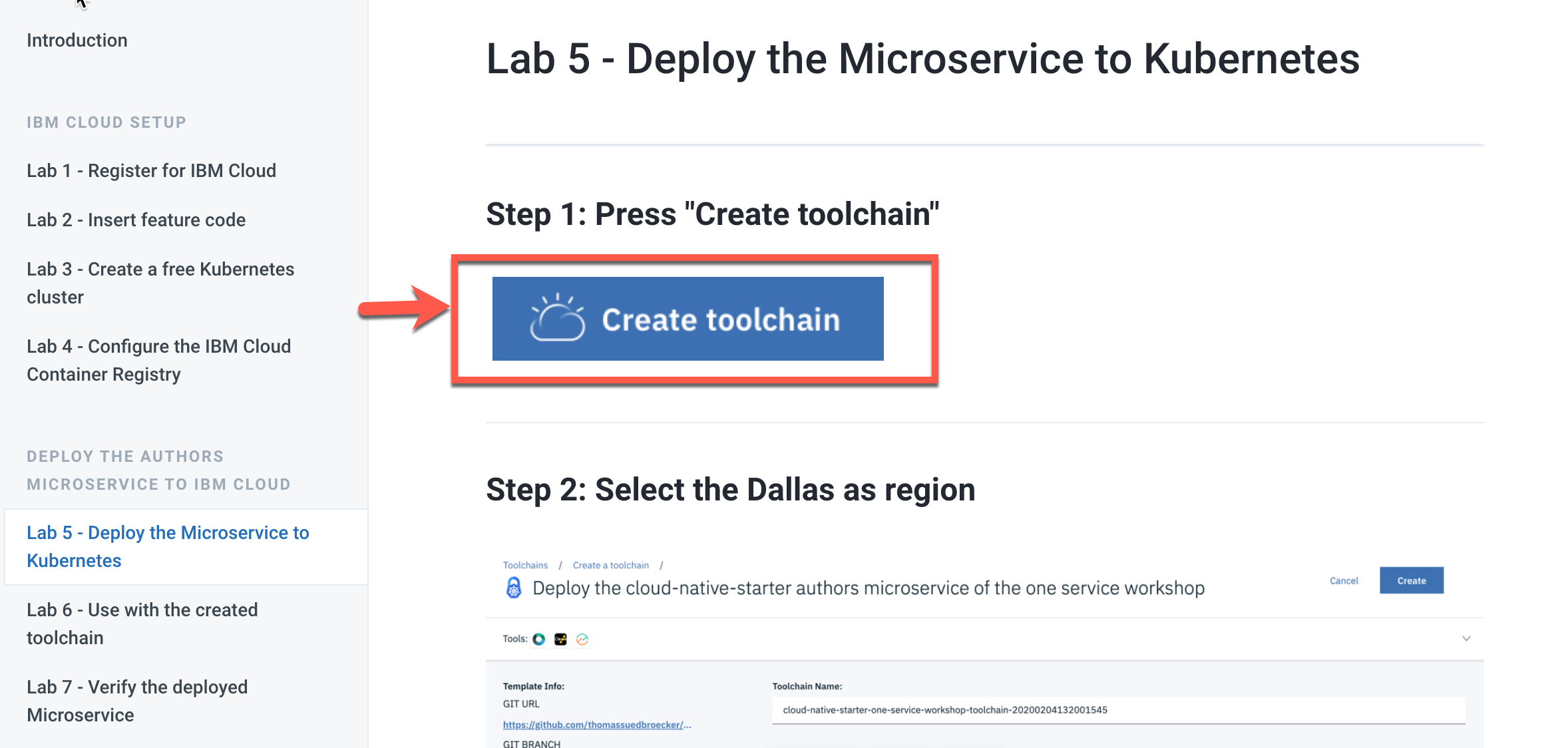 create-toolchain-gitbook